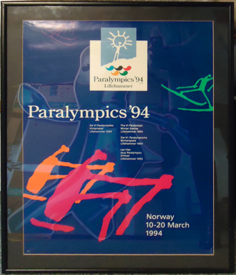 Poster for the Lillehammer 1994 Paralympic Games