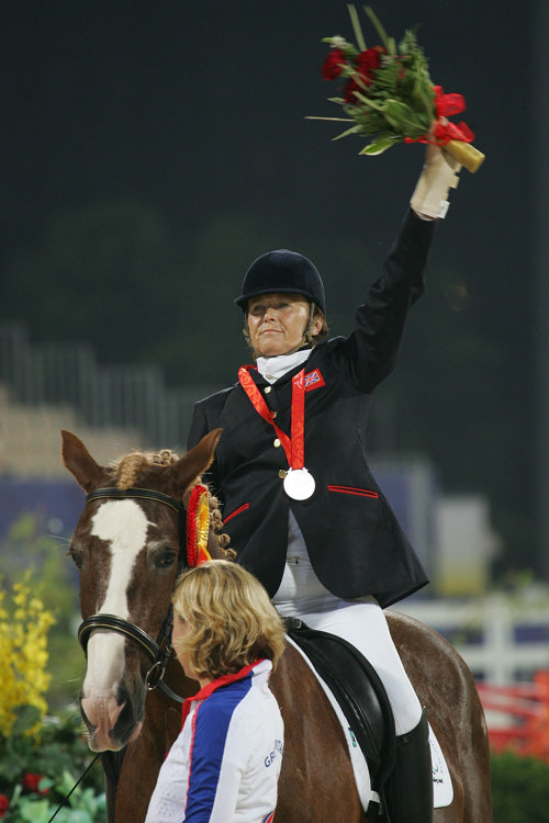 Paralympian equestrian, Anne Dunham, at the Beijing 2008 Paralympic Games