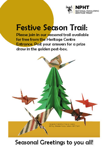 Poster advertising the 2019 Christmas Trail at the Heritage Centre