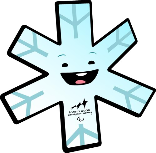 Mascot for the Torino 2006 Paralympic Winter Games, Aster the snowflake