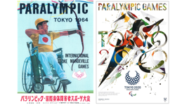 Art posters from the Tokyo 1964 and Tokyo 2020 Paralympic Summer Games