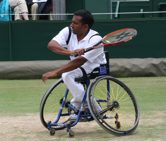 Jayant Mistry winning the Wheelchair Mens Doubles at Wimbledon in 2005