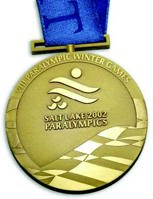Gold medal for the Salt Lake City 2002 Winter Paralympics