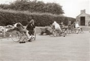 Patients playing on the bowling green at Stoke Mandeville in 1966