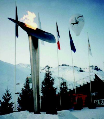The Paralympic Cauldron lit at the 1992 Tignes-Albertville Games