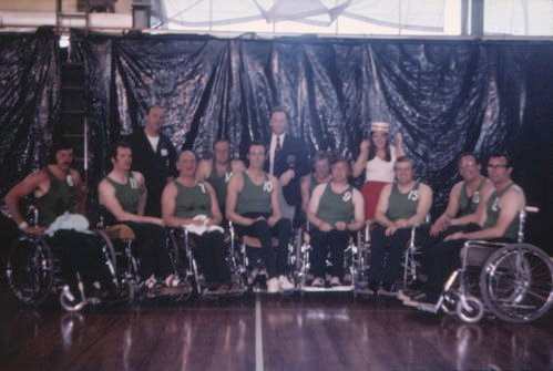 The GB wheelchair basketball team in 1973