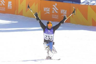 Alpine skier competing at the Salt Lake City 2002 Winter Paralympics