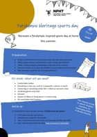 Activity resources for Paralympic Heritage Sports Day from home