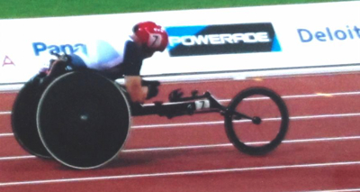 David Weir competing in the Marathon at the London 2012 Paralympics