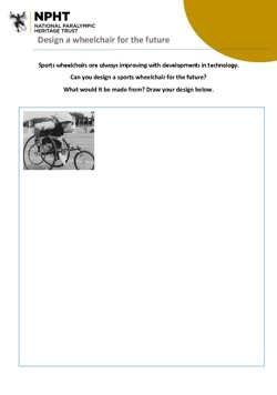 KS3 wheelchair of the future activity sheet