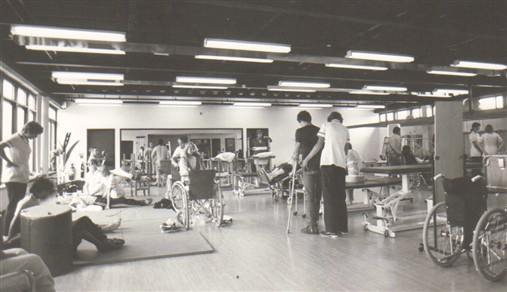 Gym at Stoke Mandeville in 1970