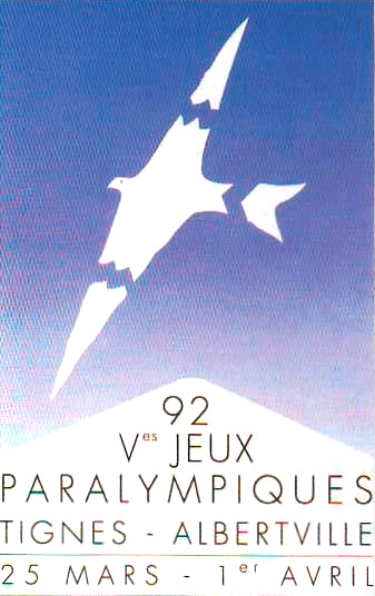 Poster for the Tignes-Albertville 1992 Paralympics