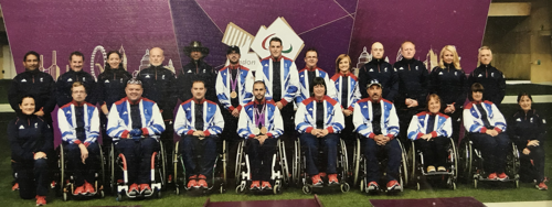 GB Shooting Team, athletes and coaches at London 2012