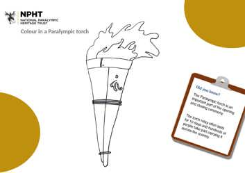 Early years colour a Paralympic torch