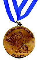 Reverse side of the gold medal from the Tignes-Albertville 1992 Winter Games