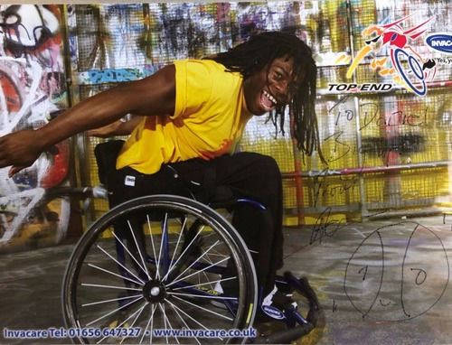 Signed photo of Ade Adepitan MBE