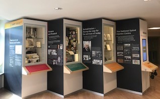 Paralympic Heritage exhibition displays at the National Spinal Injuries Centre at Stoke Mandeville Hospital