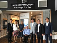 Visitors having a tour of the Paralympic Heritage Centre