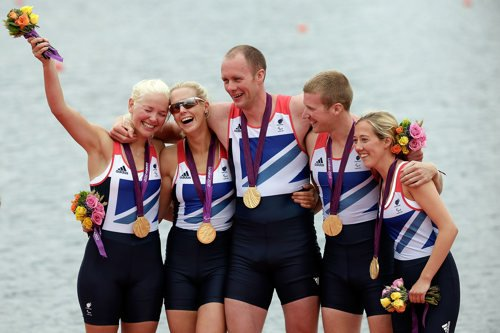 London 2012 Games gold winning mixed cox rowing team