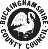 Bucks county council logo with website link
