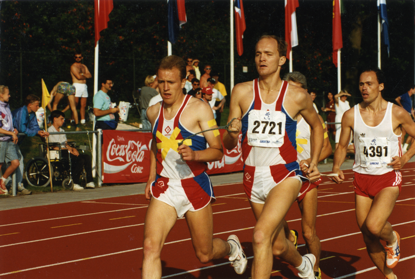 Bob Matthews winning the 5000m at the World Championships in Assen