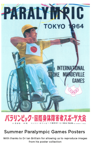 Poster advertising the 1964 Tokyo Games