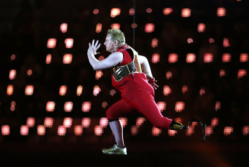 Robert Barrett performing at the opening ceremony at London 2012 Paralympics
