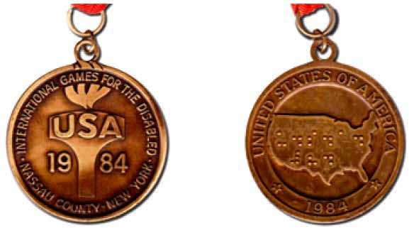 Bronze medals from the 1984 New York Games