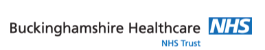 Buckinghamshire Healthcare NHS Trust logo with website link