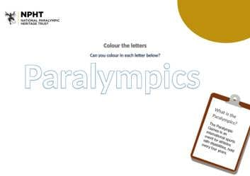 Early years colour in the word Paralympics