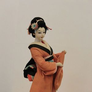 Geisha doll given to Caz Walton as a prize for the winner of the first gold medal for track sports at the 1964 Tokyo Paralympics