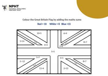 KS1 colouring in maths sheet