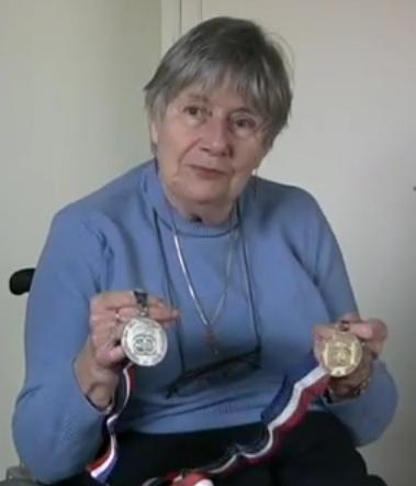 Val Williamson with her medals from the Arnhem Games in 1980