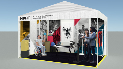 3D design of the Paralympic Heritage Pop-up museum display