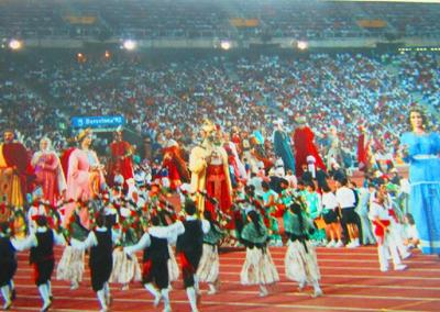 Parade of Catalan historical figures at the 1992 Barcelona Paralympic opening ceremony