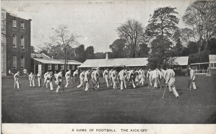 Early image of Amputee Football from 1917, although this is not a Paralympic sport