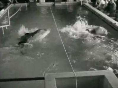 Competition at Stoke Mandeville pool 1955