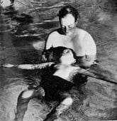 Physiotherapy in the pool at Stoke Mandeville in 1956