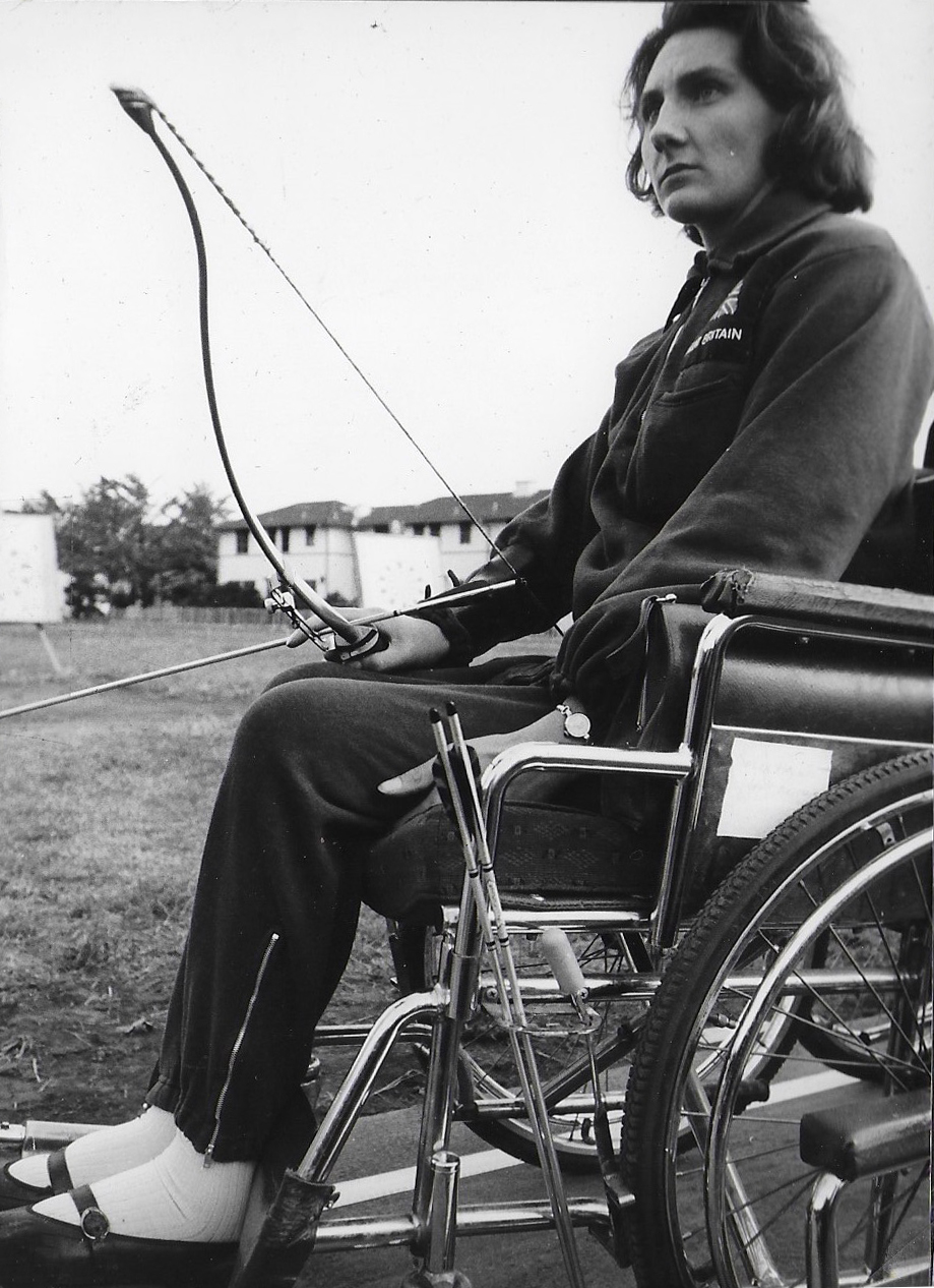 Sally Haynes at the 1964 Tokyo Games where she competed in archery