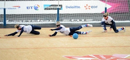 Finland v Great Britain - Goalball at the London Paralympic Games on  31/08/2012
