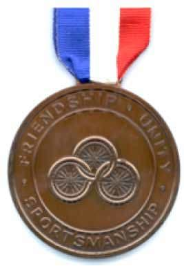 Bronze medal from the 1984 Stoke Mandeville Games