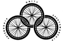 Three interlocking wheels design representing the three values of the International Stoke Mandeville Wheelchair Sports Federation
