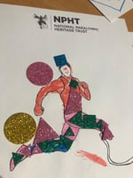 Paralympic athlete poster ideas created by children visiting Family Fun Day at the Paralympic Heritage Centre