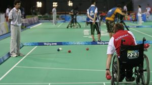Boccia game at Beijing 2008 - featuring Norways John Nørsterud