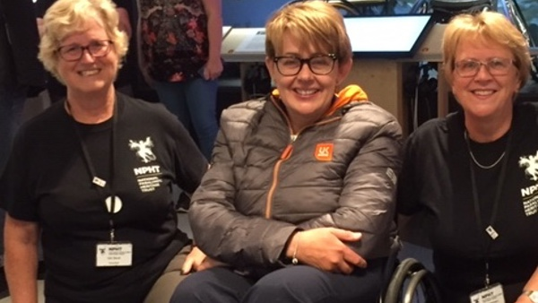 NPHT event volunteers with Tanni Grey-Thompson DBE DL at the Paralympic Heritage Centre