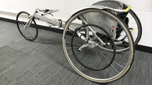Photo of Chris Hallams racing wheelchair