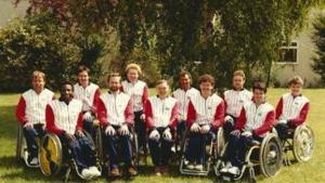 The 1984 GB basketball team at Stoke Mandeville
