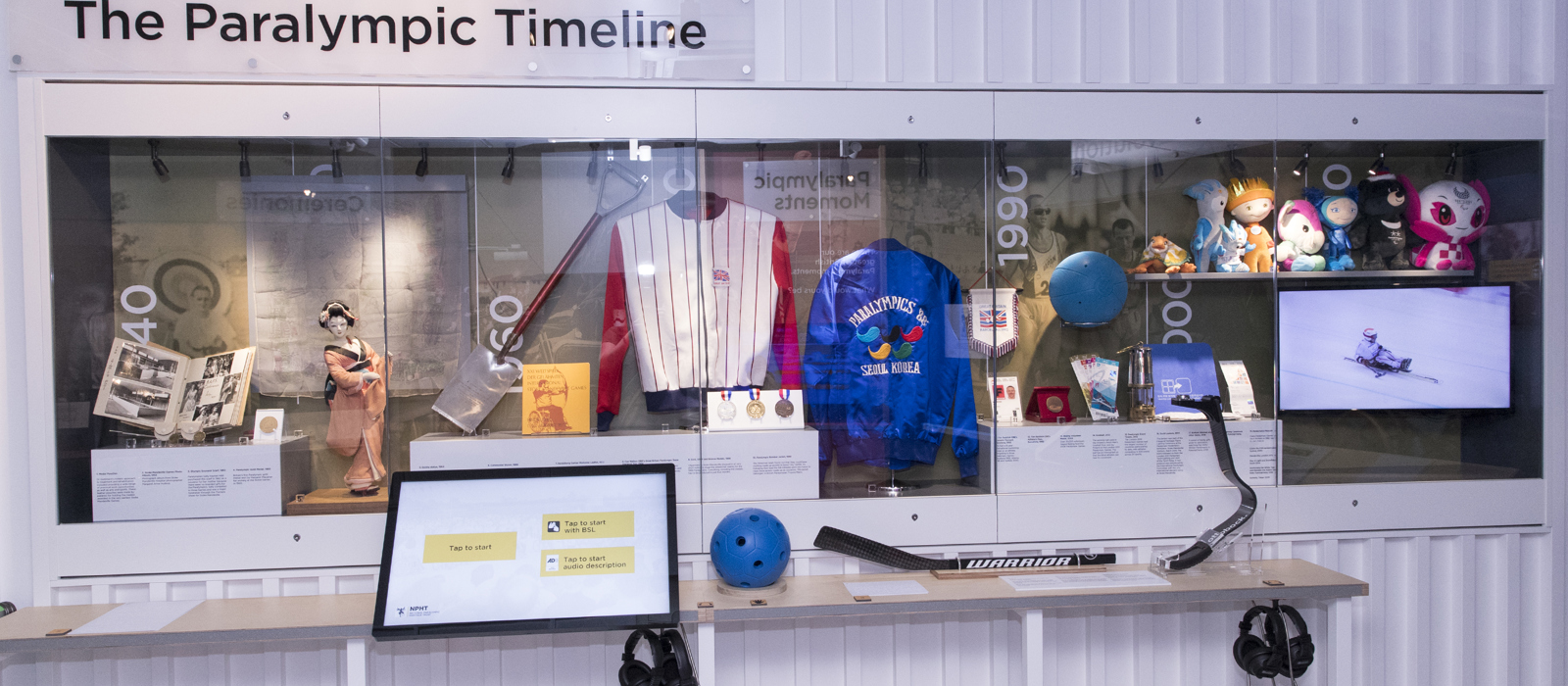 The Paralympic Timeline display at the National Paralympic Heritage Centre