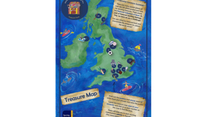 Family treasure map created by Sporting Heritage for NSHD2020