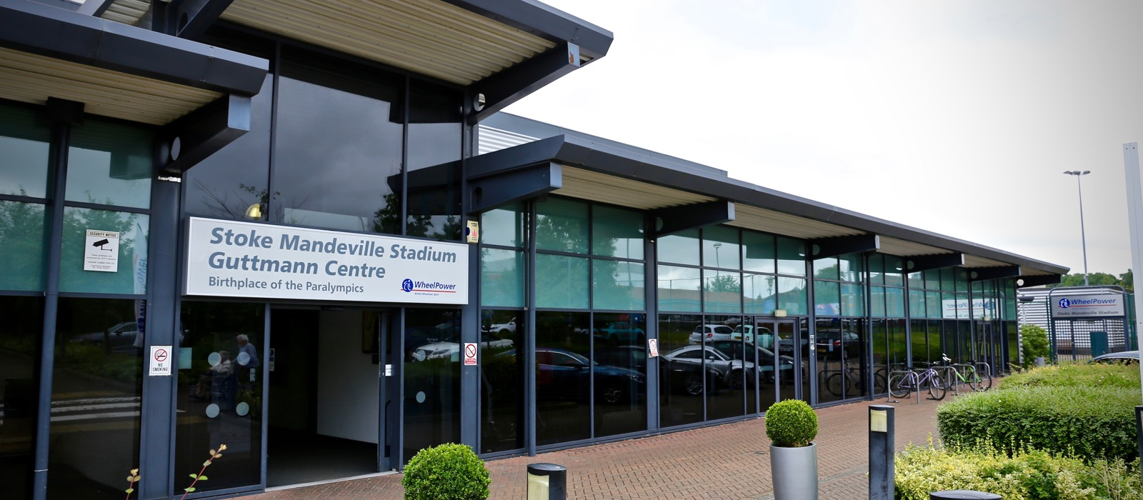 Exterior photo of Stoke Mandeville Stadium